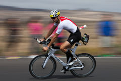 Rides a bike during the IRONMAN Royalty Free Stock Photo