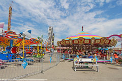 Rides on the Midway at the Indiana State Fair Stock Photography