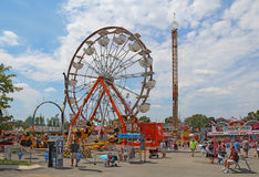 Rides on the Midway at the Indiana State Fair Stock Image