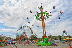 Rides on the Midway at the Indiana State Fair Stock Photo