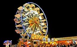 Rides. The panoramic wheel at night royalty free stock photos