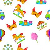 Rides pattern, cartoon style Royalty Free Stock Photography
