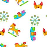 Rides pattern, cartoon style. Rides pattern. Cartoon illustration of rides vector pattern for web Stock Photo