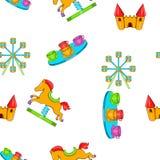 Rides pattern, cartoon style Stock Photo