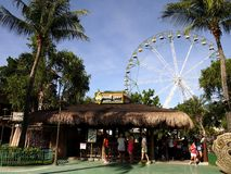 Rides, sites and attractions inside Enchanted Kingdom. Royalty Free Stock Photos