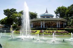 Rides, sites and attractions inside Enchanted Kingdom. Royalty Free Stock Images