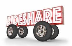 Rideshare Car Vehicle Transportation Sharing Rides Stock Photo