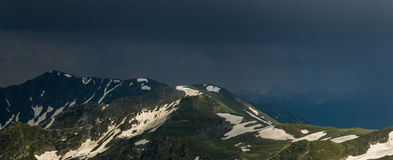 Ridge Abushura Akhuba in the wake of a storm. Caucasus mountains Royalty Free Stock Photography