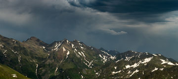 Ridge Abushura Akhuba in the wake of a storm. Caucasus mountains Stock Photo