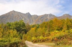 Ridge Achishkho in Krasnaya Polyana (Sochi) Stock Images