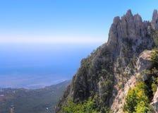 Ridge of Ai-Petri. View on the ridge of Ai-Petri mountain in Yalta, Crimea royalty free stock image