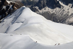 Ridge of the Aiguille du Midi Stock Photo