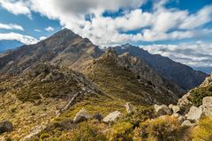 Monte Parteo in the mountains of Balagne region of Corsica Royalty Free Stock Photos