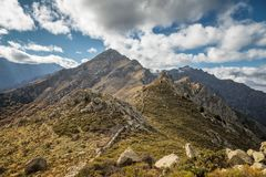 Monte Parteo in the mountains of Balagne region of Corsica Stock Photography