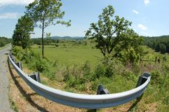 Ridge Appalachia Roadside Scenic - Boyce Virginia azules Foto de archivo