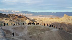 Ridge below Zabriskie Point at sunrise Royalty Free Stock Photo