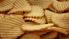 Ridge Cut Potato Chips stock footage