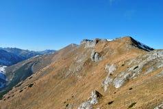 Ridge de Belianske tatry, Tatras alto, Eslováquia Foto de Stock