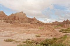 Ridge de montículos corroídos no parque nacional do ermo Fotos de Stock Royalty Free