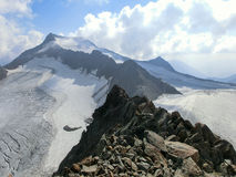 Ridge in den Stubai-Alpen Stockbilder