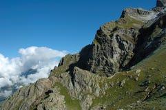 Ridge e nuvole Grindelwald vicino in Svizzera Fotografia Stock Libera da Diritti