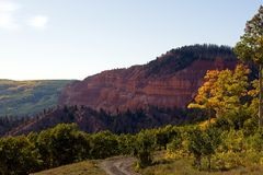 Ridge en pierre rouge Photographie stock libre de droits
