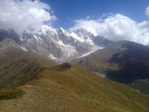 Ridge en Svaneti superior Imágenes de archivo libres de regalías