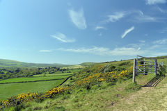 Ridge footpath above Corfe Castle Royalty Free Stock Image