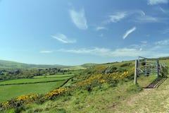 Ridge footpath above Corfe Castle Royalty Free Stock Image