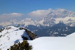 Ridge between Gasselhohe and Rippetegg peak Stock Photography