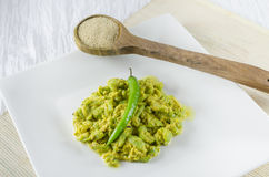 Ridge Gourd cooked with paste o fpoppy seed Stock Image