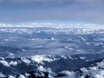 Ridge of Himalayas - birds eyeview Stock Photography