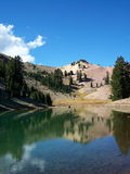 Ridge Lake. In Lassen Volcanic National Park Stock Image