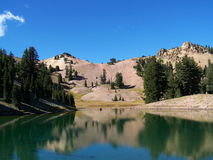Ridge Lake. In Lassen Volcanic National Park Stock Photos