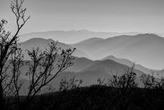 Ridge lines, Odaesan National Park Royalty Free Stock Photography