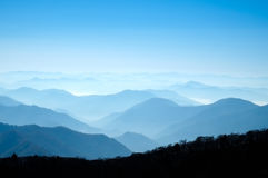 Ridge lines, Odaesan National Park Royalty Free Stock Photos