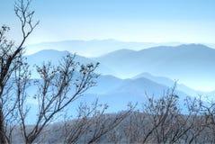 Ridge lines, Odaesan National Park Stock Images