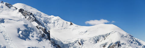 Ridge of the Mont Blanc Royalty Free Stock Photo