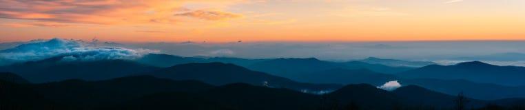 Ridge Mornings blu Fotografia Stock Libera da Diritti