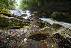 Ridge Mountain Chattooga River Cascades azul Foto de archivo