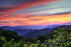 Ridge Mountain Color azul Foto de archivo
