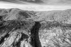 Ridge Mountain Landscape blu scenico immagini stock