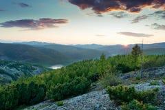 Ridge Mountain Miao Chana Russian Estremo Oriente Immagine Stock Libera da Diritti