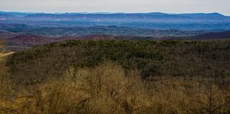 Ridge Mountains azul de Dan Ingalls Overlook imagen de archivo