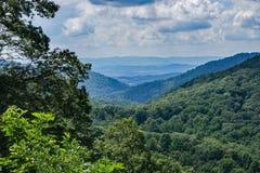 Ridge Mountains bleu de la Virginie, Etats-Unis images libres de droits
