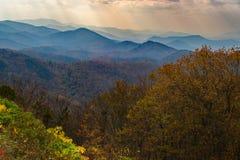 Ridge Mountains blu della Virginia, U.S.A. Fotografia Stock