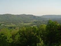 Ridge Mountains blu nella Virginia Fotografia Stock