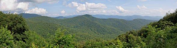 Ridge Mountains Panorama blu Fotografie Stock Libere da Diritti