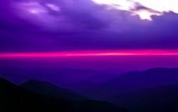 Ridge Mountains Sunset azul imagens de stock