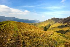 Across Knott Rigg to the Buttermere Fell. Ridge over to High Snockrigg Stock Photography